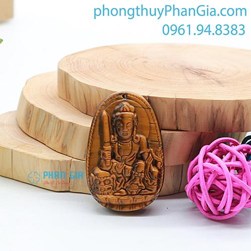 Phật Bản Mệnh Văn Thù Bồ Tát Đá Mắt Hổ Nâu Dành Cho Tuổi Mão
