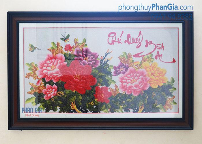 Tranh Thêu Phú Quý Bình An