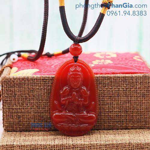 Mặt Phật Như Lai Đại Nhật Mã Não Đỏ