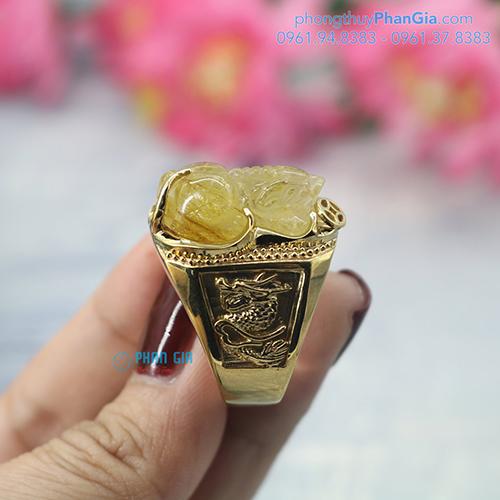 Nhẫn Tỳ Hưu Phong Thủy Cho Nam Tại Nghệ An