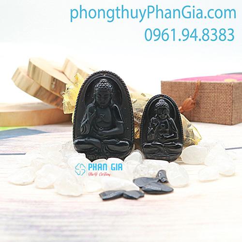 Phật Bản Mệnh A Di Đà Bồ Tát Đá Obsidian Dành Cho Tuổi Tuất , Hợi