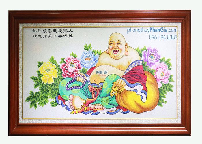 Tranh Thêu Tượng Phật Di Lặc To
