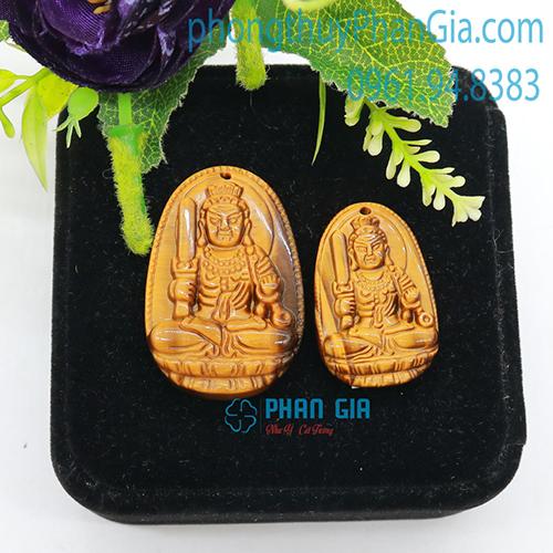 Mặt Phật Bất Động Minh Vương Mắt Hổ Nâu