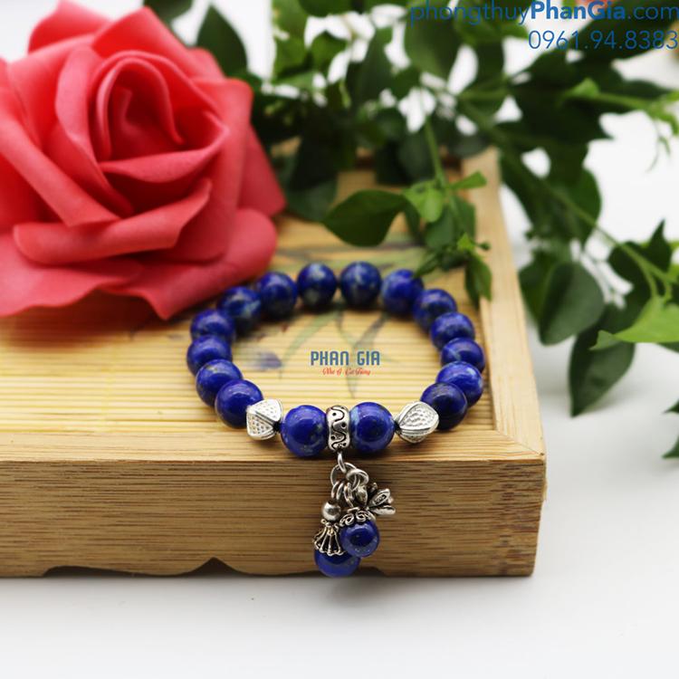 Vòng Tay Đá Lapis Lazuli mix Charm