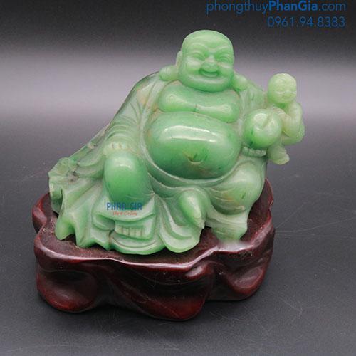 Tượng Phật Di Lặc Đá Thạch Anh Xanh