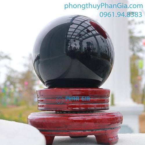 Quả Cầu Đá Obsidian đường kính 11cm