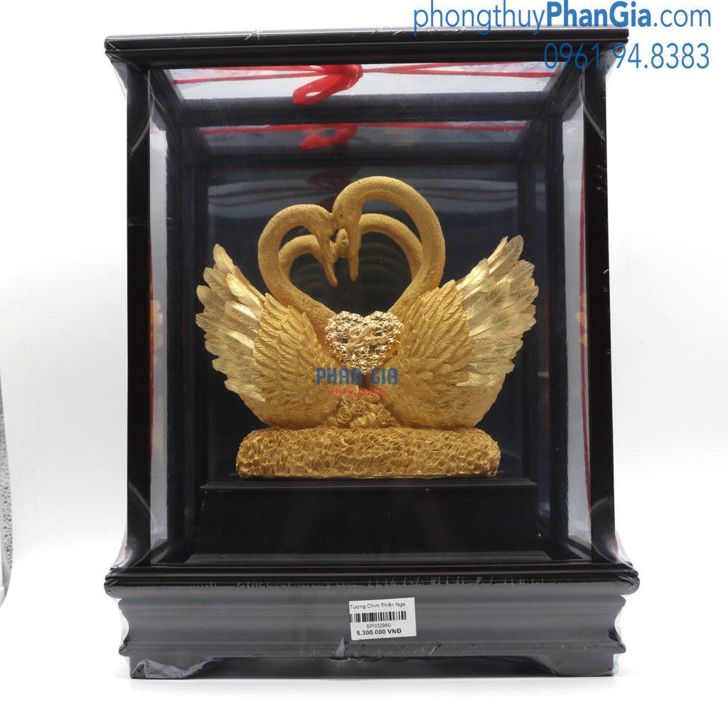 Tượng Chim Thiên Nga Mạ Vàng 24k